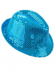 Blauw borsalino hoed voor volwassenen