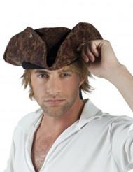 Bruin piraten hoed voor volwassenen