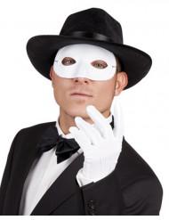 Wit venetiaans plastic oogmasker voor volwassenen
