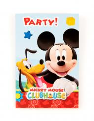 6 kartonnen Mickey Mouse™ uitnodigingen