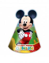 6 kartonnen Mickey Mouse™ hoedjes