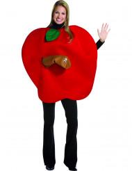 Rode appel kostuum voor volwassenen