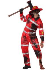 Zombie brandweerman Halloween kostuum voor heren