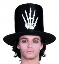 Skelethand hoge hoed voor mannen