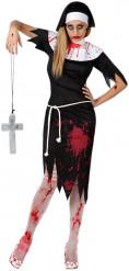 Gelovige zombie kostuum voor dames Halloween artikel
