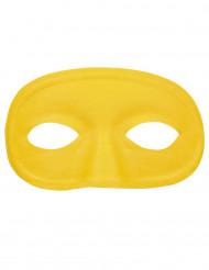 Geel halfmasker voor volwassenen