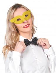 Gele half masker voor volwassenen