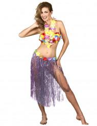 Lange paarse Hawaiiaanse rok voor vrouwen