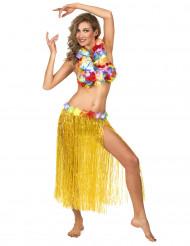Gele Hawaiiaanse rok voor volwassenen