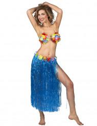 Lange blauwe Hawaiaanse rok voor vrouwen