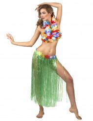 Hawaïaanse lange rok in het groen voor volwassenen