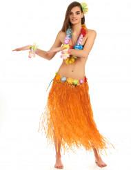 Lange oranje Hawaii rok voor volwassenen