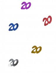20 jaar Multikleuren confetti