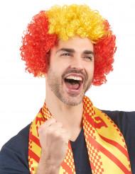 Spaanse supporter pruik voor volwassenen