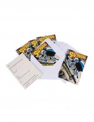 6 Batman™ uitnodigingen met enveloppen