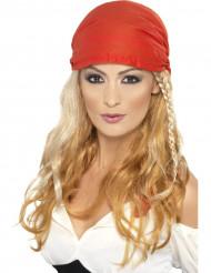 Lange blonde piratenpruik voor volwassenen