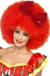 Volwassen rode afro pruik van een clown