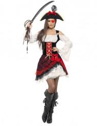 Glamour piraten kostuum voor vrouwen
