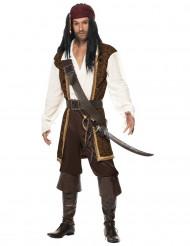 Bruin piraten kostuum voor mannen