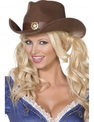 Sheriff cowboy Hoed voor volwassenen