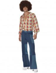 Jaren 70 retro dans disco outfit voor heren