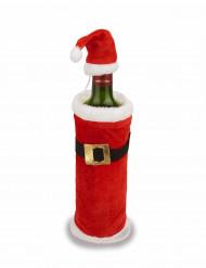 Kerst mantel en muts voor een fles