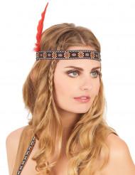 Indiaanse hoofdband met veer