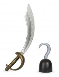 Set van piratenhaak en zwaard