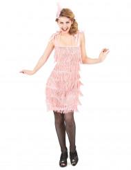 Roze Charleston kostuum voor dames