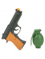 Revolver en granaat