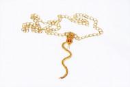 Goudkleurige halsketting met slang