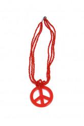 Rode hippie halsketting