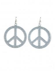 Zilveren hippie oorbellen