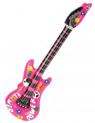 Roze opblaasbare gitaar