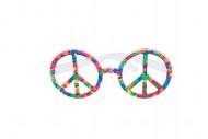 Multikleurige hippie bril