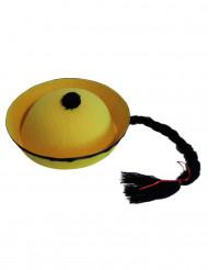Chinese hoed zwart en geel