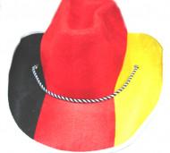 Supporter Cowboy hoed voor duitsland