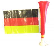 Voetbal toeter met duitse vlag