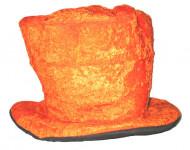 Oranje fluweelachtige hoge hoed