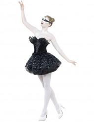 Zwart danseressenkostuum voor vrouwen