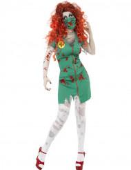 Halloween Paramedicus zombie vrouw kostuum