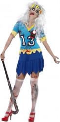 Zombie Halloween kostuum hockey speelster voor vrouwen