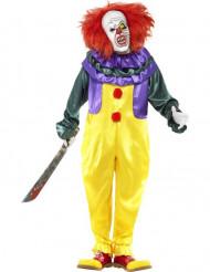 Enge clown kostuum voor volwassenen Halloween