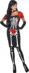 Rode en zwarte skelette outfit voor dames