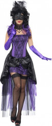Sexy paars barones kostuum voor vrouwen