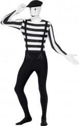 Second skin Mime kostuum voor volwassenen