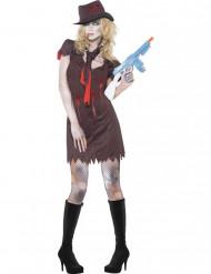 Sexy gangster zombie Kostuum voor dames Halloween pak