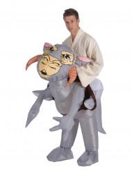 Opblaasbare Tauntaun™ pak voor volwassen