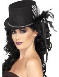 Skelet hand en veren hoge hoed voor vrouwen