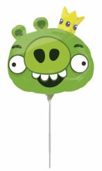 Groene aluminium Angry Birds™ ballon